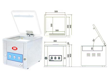 Vacuum Pouch Packing Machine - VPT-280TC