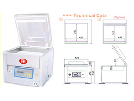 Automatisk Vacuum Packing Machine - VPT-450TC